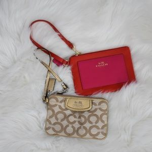 Coach Wristlet Color Block Wallet